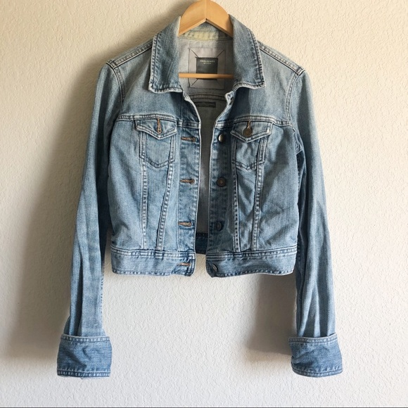 Abercrombie and Fitch Cropped Denim Jean Jacket